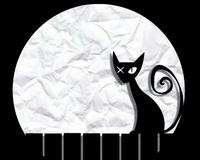 Жил на свете кот Маркел, На окошке он сидел.  Сам был черный